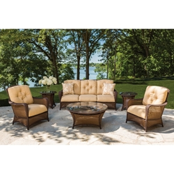 Lloyd Flanders Grand Traverse Wicker Patio Sofa Set - LF-GRANDTRAVERSE-SET14