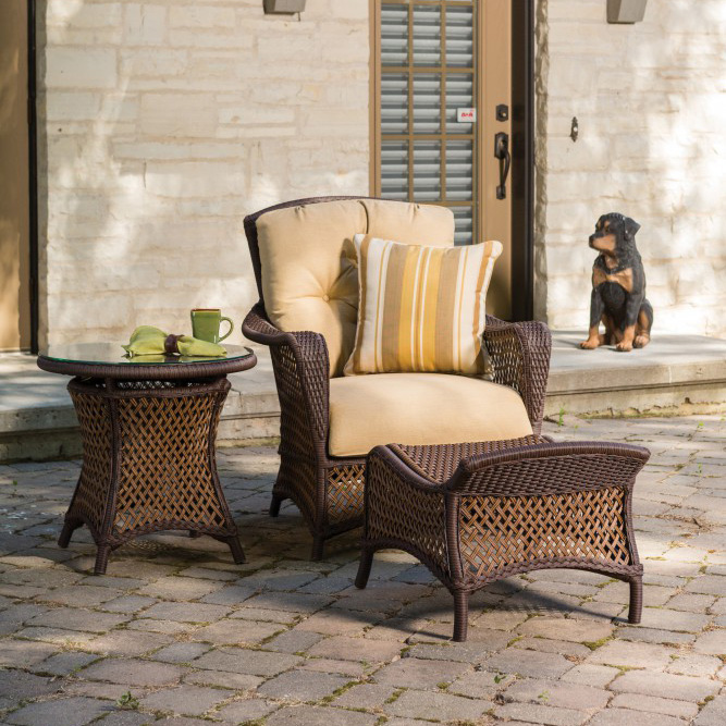 Lloyd Flanders Grand Traverse 3 Piece Wicker Lounge Chair Set - LF-GRANDTRAVERSE-SET15