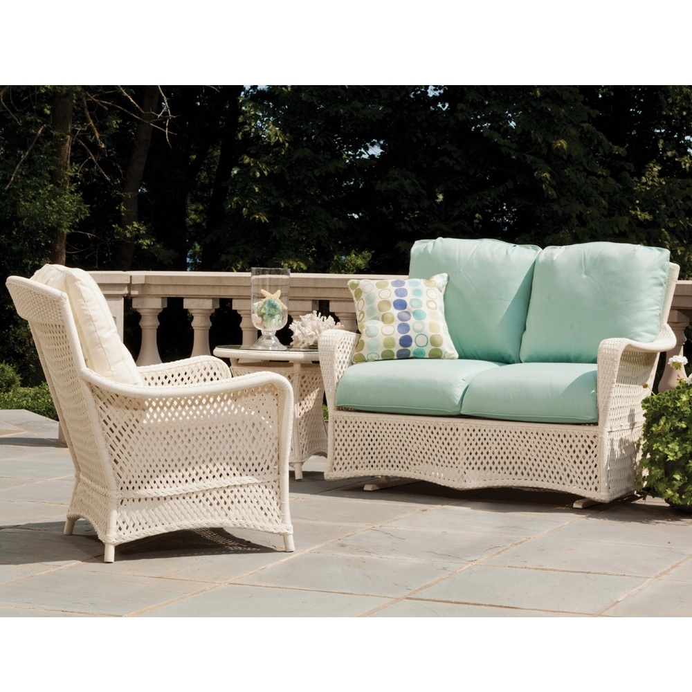 Lloyd Flanders Grand Traverse Loveseat Glider and Lounge Chair Set - LF-GRANDTRAVERSE-SET2
