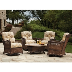 Lloyd Flanders Grand Traverse 5 Piece Patio Conversation Set - LF-GRANDTRAVERSE-SET4