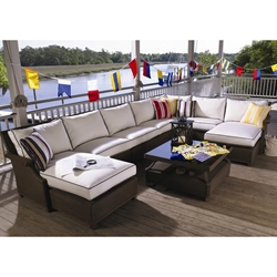 Lloyd Flanders Hamptons Large Sectional Set