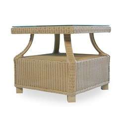 Lloyd Flanders Hamptons End Table with Glass Top - 15918