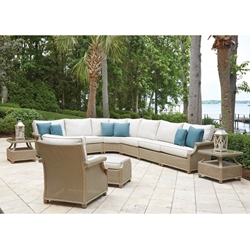 Lloyd Flanders Hamptons Large Outdoor Wicker Sectional Set - LF-HAMPTONS-SET19