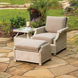 Lloyd Flanders Hamptons 3 Piece Deep Lounge Chair Set - LF-HAMPTONS-SET7