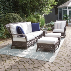 Lloyd Flanders Haven Wicker Deep Seating Patio Set - LF-HAVEN-SET9