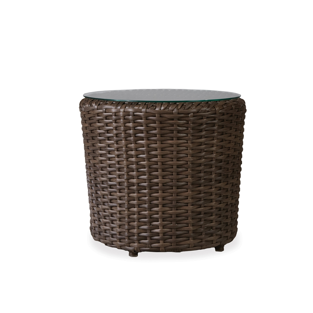 Lloyd Flanders Largo Vinyl Wicker End Table With Lay On