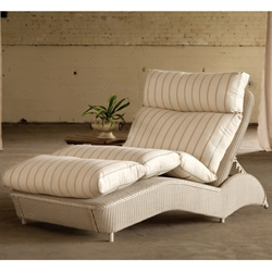 Lloyd Flanders Double Adjustable Wicker Chaise Lounge - 6028