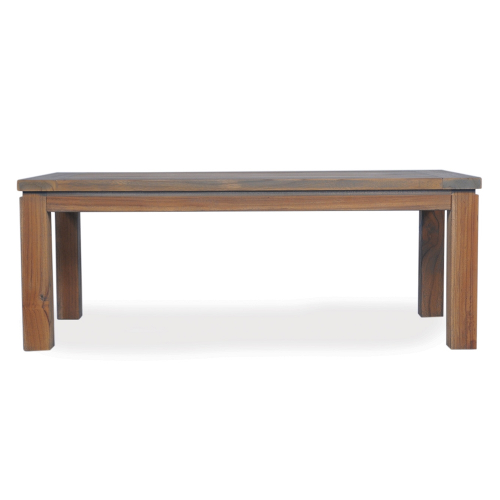 Lloyd Flanders Distressed Teak Rectangle Cocktail Table - 286045