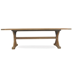 Lloyd Flanders 40 inch by 100 inch Distressed Teak Dining Table - 286100