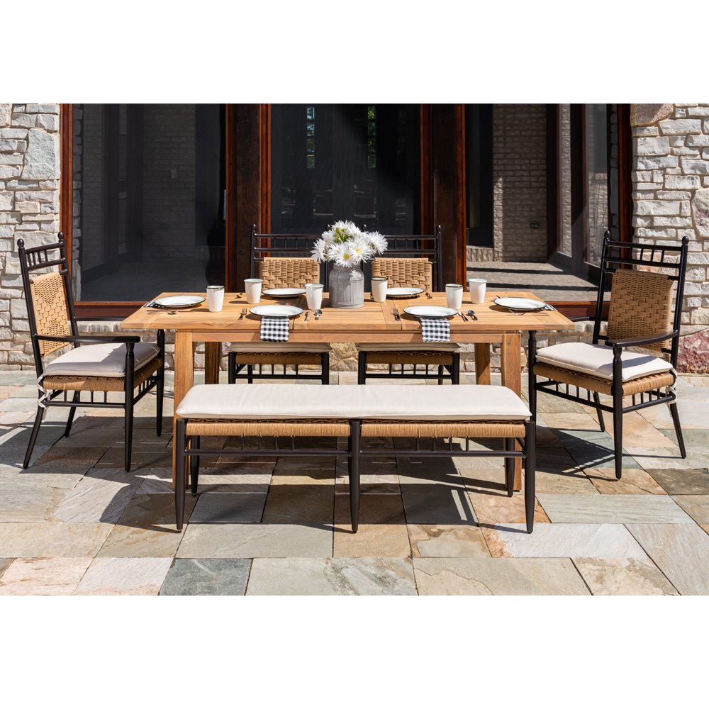 Lloyd Flanders Low Country Dining Set with Seat Cushions - LF-LOWCOUNTRY-SET16