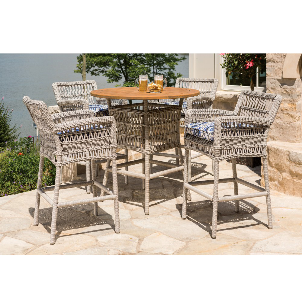Lloyd Flanders Mackinac Wicker Patio Bar Set - LF-MACKINAC-SET6