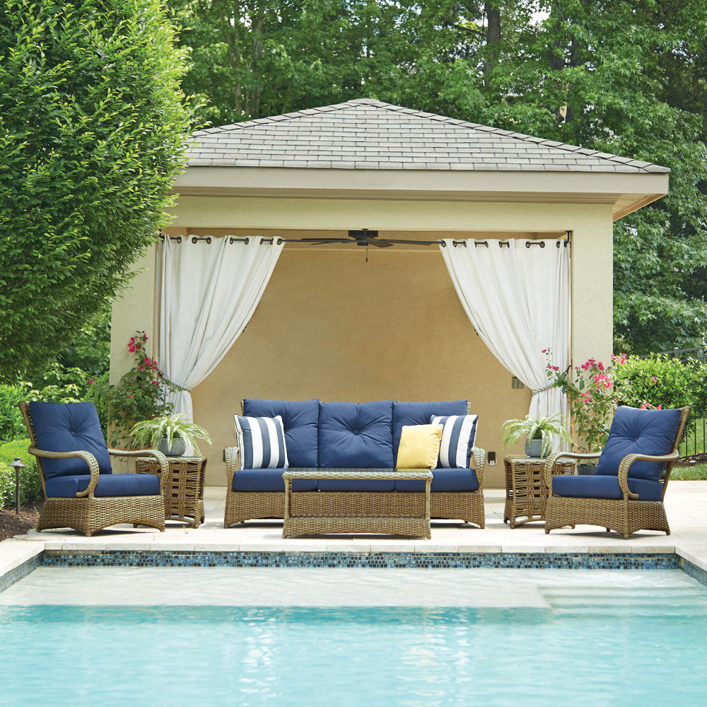 Lloyd Flanders Magnolia Outdoor Wicker Sofa and Lounge Chair Set - LF-MAGNOLIA-SET4