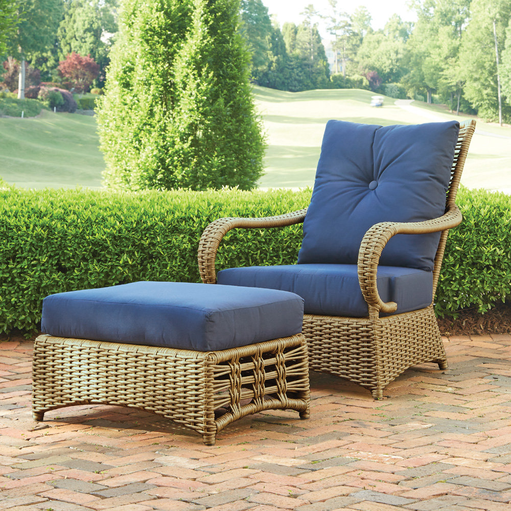 Lloyd Flanders Magnolia Lounge Chair and Ottoman Outdoor Wicker Set - LF-MAGNOLIA-SET6