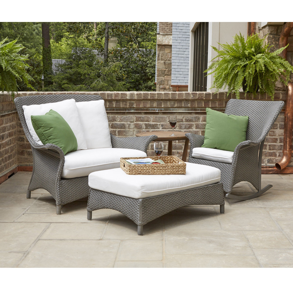 Lloyd Flanders Mandalay Chair and a Half with Porch Rocker and Ottoman Set - LF-MANDALAY-SET16