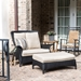 Lloyd Flanders Mandalay Chair and a Half Wicker Patio Set with Ottoman and Side Table - LF-MANDALAY-SET17