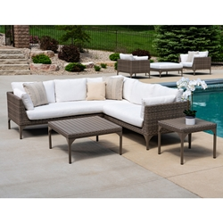 Lloyd Flanders Martinique Wicker L-Sectional Set - LF-MARTINIQUE-SET1