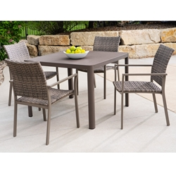 Lloyd Flanders Martinique Outdoor Wicker Dining Set for 4 - LF-MARTINIQUE-SET6
