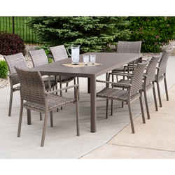 Lloyd Flanders Martinique Wicker Dining Set for 8 - LF-MARTINIQUE-SET5