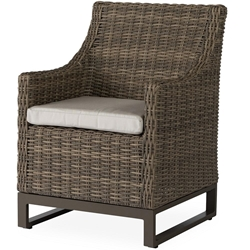 Lloyd Flanders Milan Dining Armchair with Optional Seat Pad  - 475001