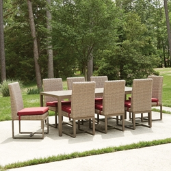 Lloyd Flanders Milan Outdoor Dining Set with Seat Cushions - LF-MILAN-SET2