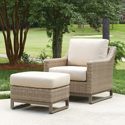 Lloyd Flanders Milan Wicker Outdoor Lounge Chair and Ottoman - LF-MILAN-SET5