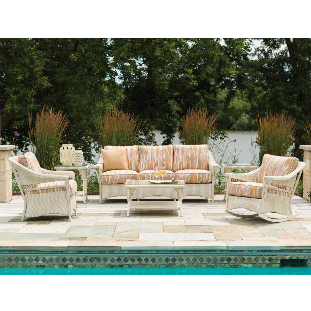 Lloyd Flanders Nantucket Loomed Wicker Sofa Patio Set - LF-NANTUCKET-SET8