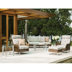 Lloyd Flanders Nova Sofa Set with High Back Lounge Chairs - LF-NOVA-SET5