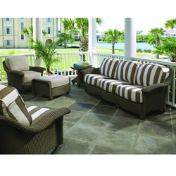 Lloyd Flanders Oxford Loom Wicker Sofa and Lounge Chair Patio Set - LF-OXFORD-SET9