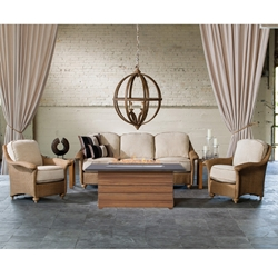Lloyd Flanders Oxford 6 Piece Patio Lounge Set with Fire Pit Table - LF-OXFORD-SET4