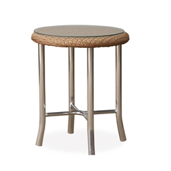 "Lloyd Flanders Quick Ship Weekend Retreat 20"" Round End Table with Mini-Random Weave - 86120-QS"