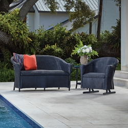 Lloyd Flanders Reflections Outdoor Wicker Set with Hidden Cushions - LF-REFLECTIONS-SET22