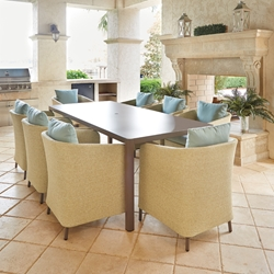 Lloyd Flanders Verona Outdoor Dining Set for 8 - LF-VERONA-SET5