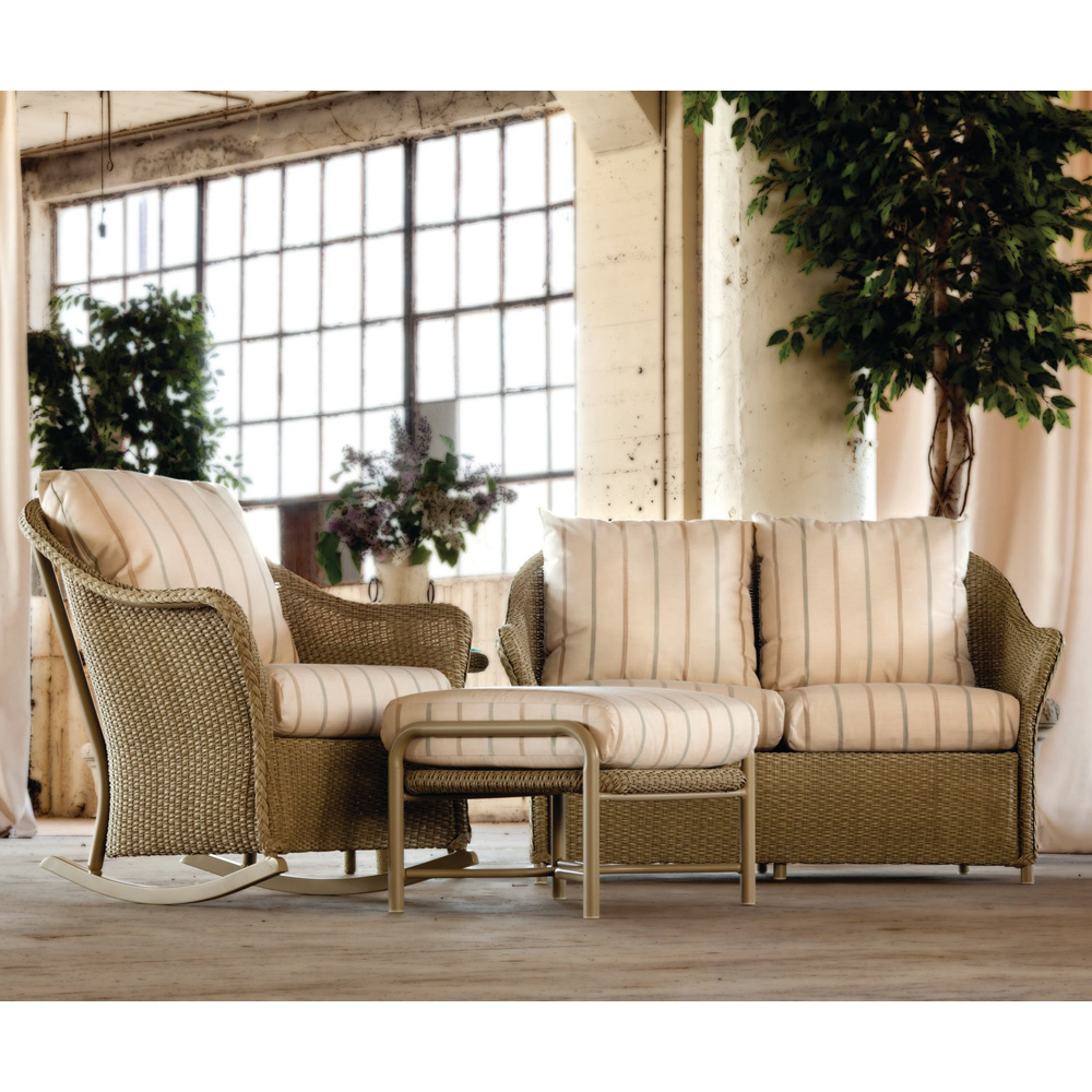 Lloyd Flanders Weekend Retreat Loveseat & Rocker Set