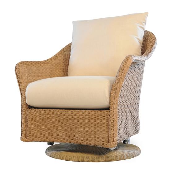 Sensational Lloyd Flanders Weekend Retreat Wicker Swivel Glider Beatyapartments Chair Design Images Beatyapartmentscom