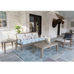 Lloyd Flanders Wildwood Teak and Wicker Outdoor Patio Set - LF-WILDWOOD-SET7