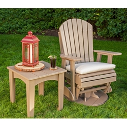LuxCraft Adirondack Swivel Glider Chair with Island Side Table - LC-ADIRONDACK-SET12