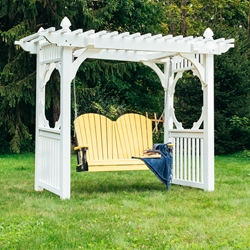 LuxCraft Adirondack Loveseat Swing with Stand - LC-ADIRONDACK-SET14