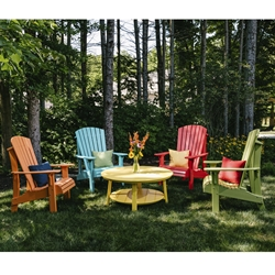 LuxCraft Royal Adirondack Lounge Chair Set for 4 - LC-ADIRONDACK-SET6