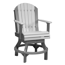 LuxCraft Adirondack Counter Swivel Chair - PASCC