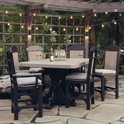 LuxCraft Classic Poly Bar Patio Set - LC-CLASSIC-SET7