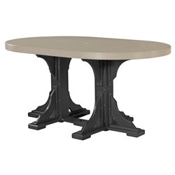 LuxCraft 4 x 6 Oval Counter Height Table - P46OTC