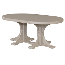 LuxCraft 4x6 Oval Dining Table - P46OTD
