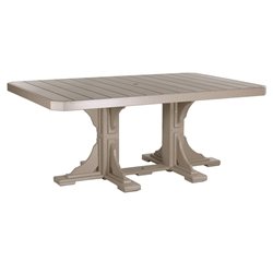 LuxCraft 4x6 Rectangular Dining Table - P46RTD