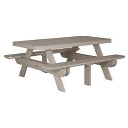 LuxCraft 6 Rectangular Picnic Table - P6RPT