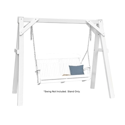 LuxCraft A-Frame Vinyl Swing Stand - White - VAFW