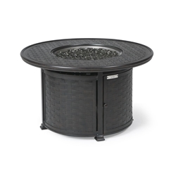 "Mallin Cambria 42"" Round Chat Height Fire Table - 9000 Cast Top - MF042S-9043F"