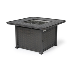"Mallin Cambria 42"" Square Chat Height Fire Table - 9000 Cast Top - MF152-9143F"