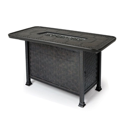 "Mallin Cambria 58"" x 35"" Rectangular Counter Height Fire Table - 2000 Cast Top - MF265-2260F"