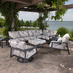 Mallin Dakoda Cushion Outdoor Sectional Patio Set - ML-DAKODACUSHION-SET2