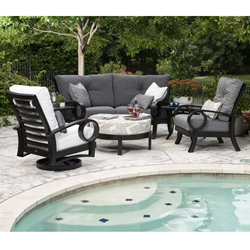 Mallin Eclipse Cushion Aluminum Outdoor Furniture Set - ML-ECLIPSE-SET2